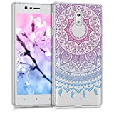 kwmobile Nokia 3 Hülle - Handyhülle für Nokia 3 - Handy Case in Blau Pink Transparent