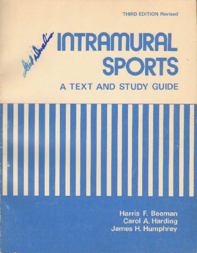 Title: Intramural sports A text and study guide