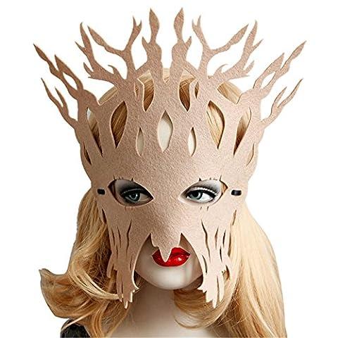 HCFKJ Elegant visage masque bal mascarade Carnaval fête (Beige)