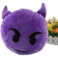 Miryo-Cojín con diseño de emoji Emoticonos Emoticones diablo suave y cómodo decoración Sofá juguete de peluche Mono Divertido 32 x 32 x 12cm