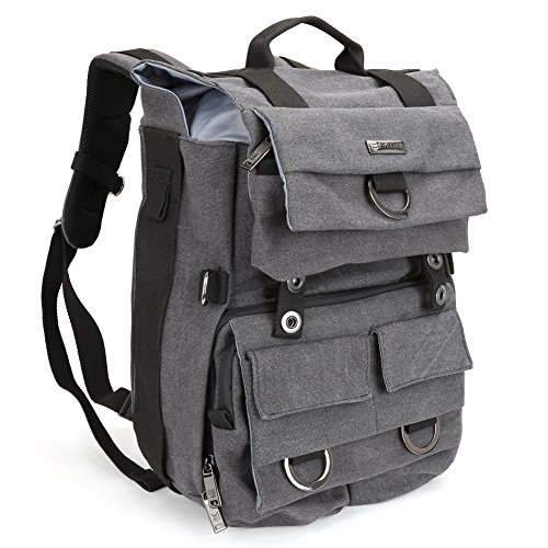 evecase-camera-backpack-premium-waterproof-durable-canvas-dslr-case-with-laptop-compartment-rain-cov