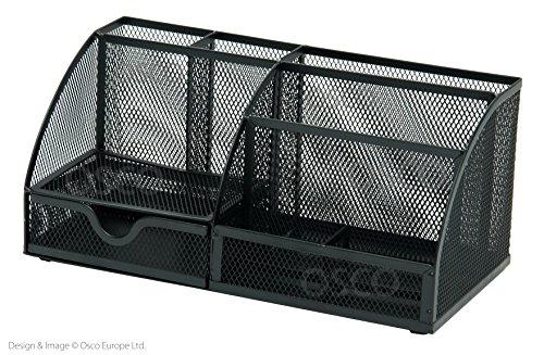 Osco Tisch-Organiser Mesh groß kratzfest mit streifenfreien Gummifüßen schwarz - Kratzfeste Arbeitsfläche