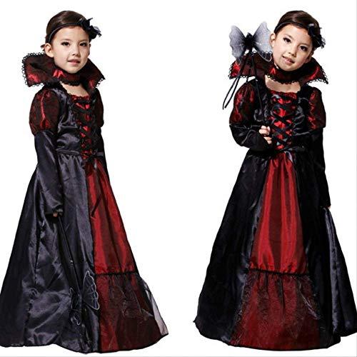 WARRT Halloween Kleider Halloween Kostüm Beängstigend Mädchen Kinder Vampir Hexe Kostüm Karneval Party Prinzessin Kostüm Fantasie XL (Höhe 130-140cm) - Original Kostüm Für Teenager Mädchen