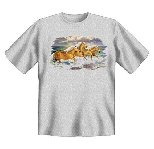 Faszination Pferde Tshirt Fantasea Ponies Gr XXL in grau