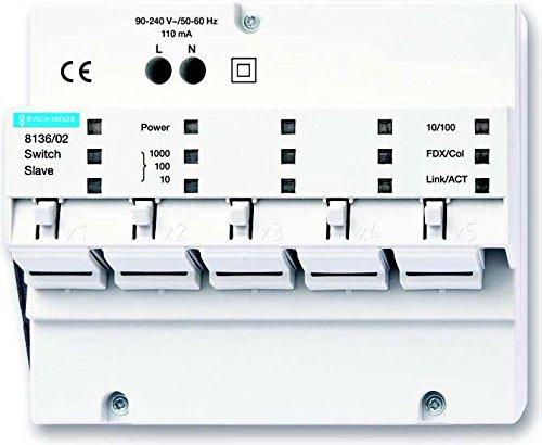 Busch-Jaeger IP-Switch Slave 8186/02 5fach, REG IP-Netzwerktechnik Netzwerk Switch 4011395171448