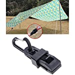 Lergo 4 Pcs Camping Awning Tarp Clips Clamp Tent Multifunction Buckle Tool