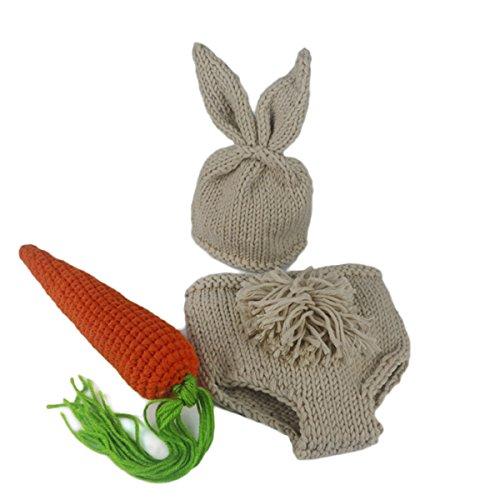 MIOIM Bebé recién nacido Gorro de lana +pantalones,+rábano para Fotografía Atrezzo Treje