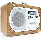 Pure Evoke D4 Radio (DAB/DAB+ Digital- und UKW-Radiowecker mit Küchen-Timer) eiche