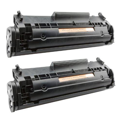 Tito-Express PlatinumSerie 2X Toner-Patrone XXL Schwarz für Canon FX-10 I-Sensys MF4010 MF4650 MF4660PL MF4690 MF4690PL - Canon Fx-10 Schwarz Patrone