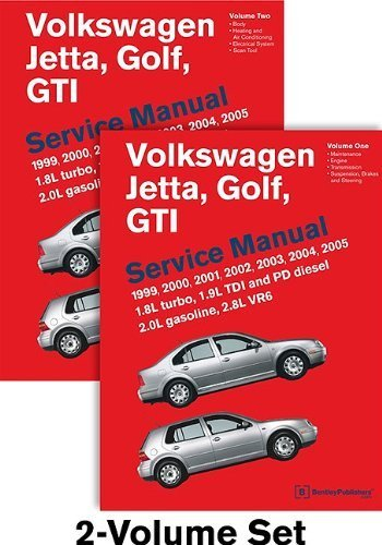 Volkswagen Jetta, Golf, GTI (A4) Service Manual: 1999, 2000, 2001, 2002, 2003, 2004, 2005 - 2 VOLUME SET by Bentley Publishers (2011) Hardcover