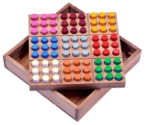 Farb Sudoku - Steckspiel - Denkspiel - Knobelspiel - Geduldspiel