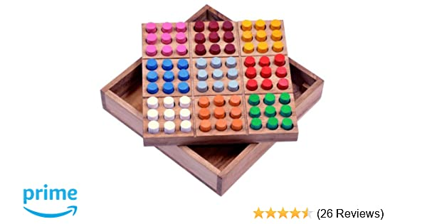 Logikspiel... Geduldspiel Farb Sudoku Knobelspiel Denkspiel Steckspiel