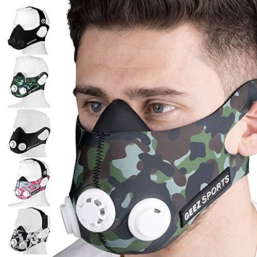 Geez - Máscara de Entrenamiento Profesional para Entrenamiento en altitud -...