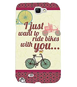 Fuson 3D Printed Quotes Designer back case cover for Samsung Galaxy Note 2 - D4380