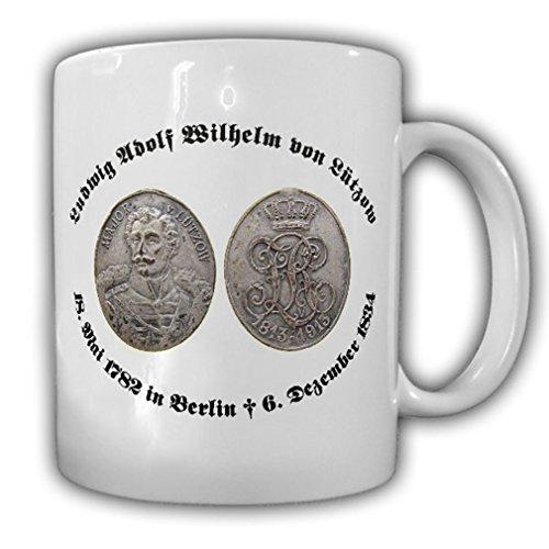 Münze Prägung Freiherr Ludwig Adolf Wilhelm von Lützow Portrait Tasse #15378