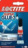 Loctite Super Glue-3 Spécial verre, colle forte pour des collages verre sur verre, colle liquide résistante à l'eau et aux détergents, colle transparente, 3 g