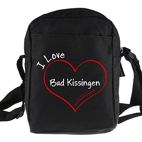 Preisvergleich Produktbild Umhängetasche Modern I Love Bad Kissingen schwarz