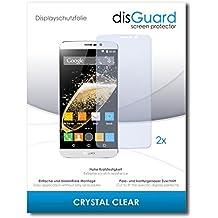 [2 Unidades] Zopo Speed 7 Plus Protector de Pantalla disGuard® [Crystal Clear] Cristal, Transparente, Invisible / Anti-Arañazos, Anti-Burbujas, Anti-Huella Dactilar, Protección contra Arañazos / Película Protectora