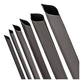 Schrumpfschlauch 2:1 Schwarz Auswahl aus 10 Größen und 6 Längen Meterware von ISO-PROFI (hier: Ø30mm - Länge: 1 Meter)
