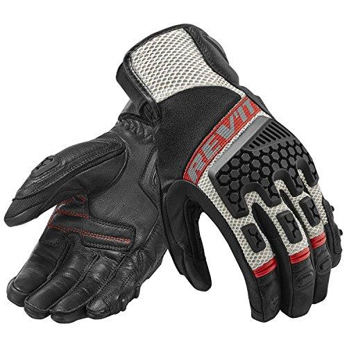 REVIT SAND 3 Herren Motorradhandschuhe Leder/Textil Touring - schwarz silber Größe L