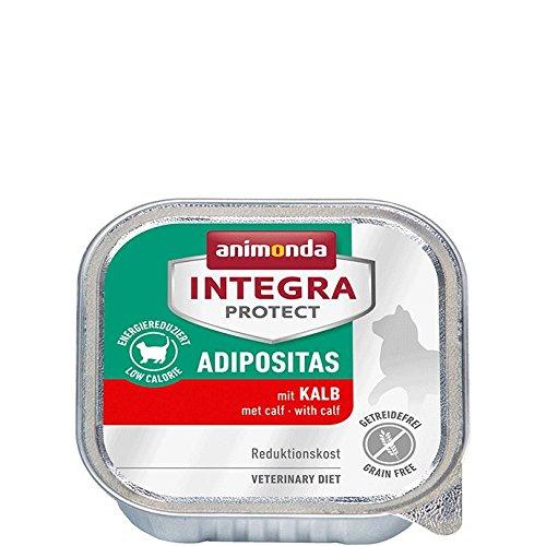 Animonda Integra Protect Adipositas mit Kalb | Diät Katzenfutter | Nassfutter bei Übergewicht (16 x 100 g)