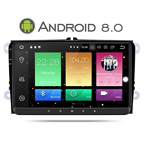Yingly Android 8.0 Autoradio GPS para VW Golf Seat Jetta Passat Polo...