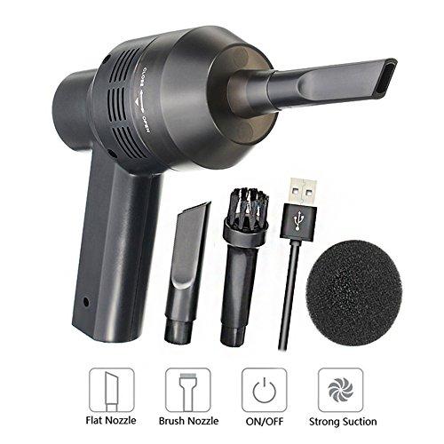Eberry Mini Handheld kabellos Tastatur Vakuum–Wireless Computer Vakuum tragbar USB wiederaufladbar Staubsauger–Reinigen Staub Haare Krümel Zigarette Esche Laptop Tastatur Make-up-Tasche Auto