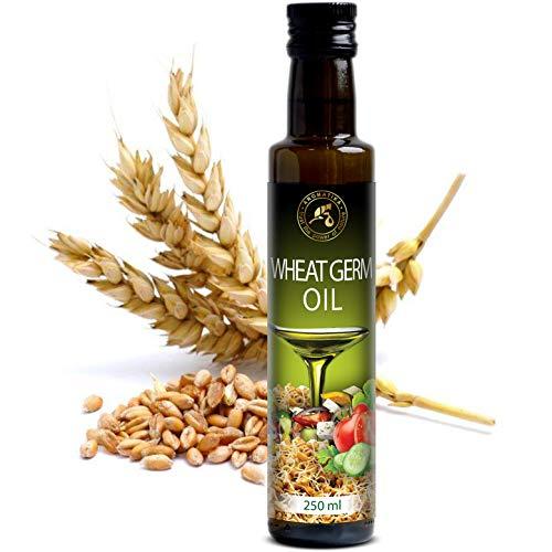 Olio di Germe di Grano Commestibile Raffinato 250ml - USA - 100% Puro & Naturale - Per Condimento per Insalata di Foglie Verdi - Verdure - Salse - Dessert - Cottura - Ricco di Vitamina E