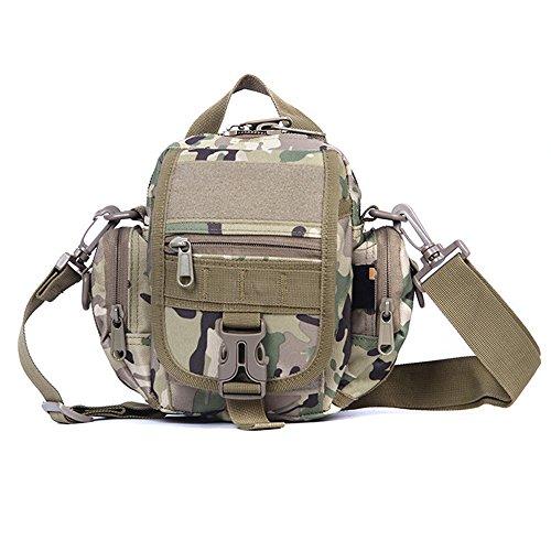 Ruifu multifonctionnel extérieur tactique Camouflage Sac à bandoulière Croix diagonale Sac à main, CP