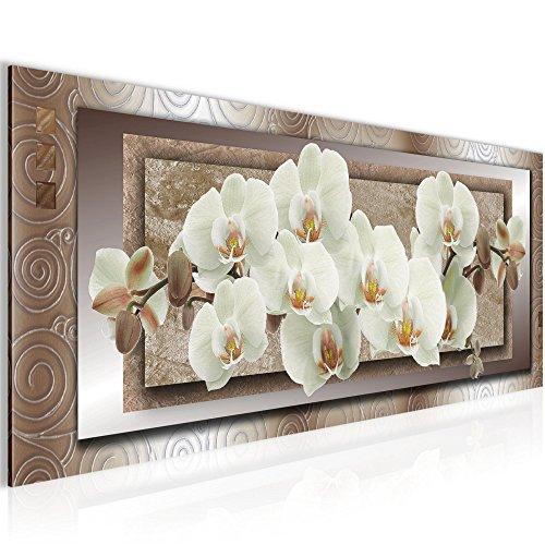 Bilder Blumen Orchidee Wandbild 100 x 40 cm Vlies - Leinwand Bild XXL Format Wandbilder Wohnzimmer Wohnung Deko Kunstdrucke Bunt 1 Teilig -100% MADE IN GERMANY - Fertig zum Aufhängen 205412c (Bilder Orchideen Von)