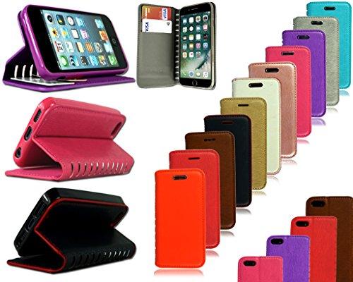 """Apple iPhone 5s 6S 7Plus élégant Nouveau authentique Premium Cuir Flip Stand Wallet téléphone Coque, Orange Wallet, Apple iPhone 6 6S (4.7"""") Vert - Étui portefeuille"""