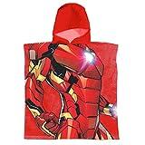 Super Heroes Marvel Avengers - Peignoir de Bain - Garçon - 22-387X [Rouge Iron Man - Taille Unique]