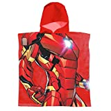 Super Heroes Marvel Avengers - Peignoir de Bain - Garçon - 22-387X [Rouge Iron Man -...