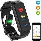 Bracelet Fitness avec OXYMETRE DE POULS–voeons–Fitness Tracker étanche IP67–aktivtätstracker avec podomètre Compteur de calories, sommeil pour iOS/Android...