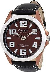 OMAX Analog Brown Dial Mens Watch - SS146