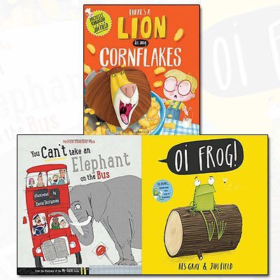 There's a Lion in My Cornflakes and You Can't Take An Elephant On the Bus Collection Oi Frog 3 Books Bundle