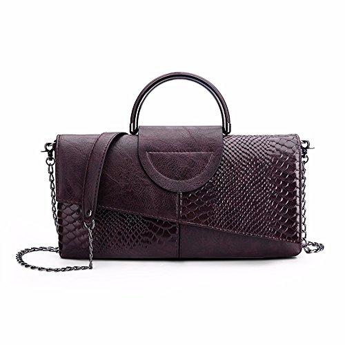 le donne sono clutch bag, grandi capacità spalla borsa, new wild borsa,bianco e nero, colori claret