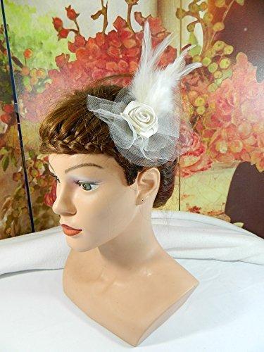 d455fc1a20c Brautschmuck Creme kleiner Haarclip Fascinator Haarschmuck Hochzeit Trauung  Kirchlich Standesamtlich Formal Brauthut