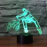 Nachtlicht LED Nachttischlampe 3D Schreibtischlampe 7 Farben Ändern Fahrrad Limit Bewegung Nachtlichter Decor Led Bmx Trickster Schlafzimmer Schlafen Beleuchtung Geschenke