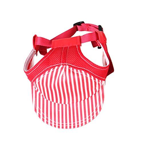 Kostüm Hunde Baseball - MagiDeal Hundehut Sunbonnet Baseball Cap Hut für Outdoor Sport Haustier Hund Katze Kostüme - Red S