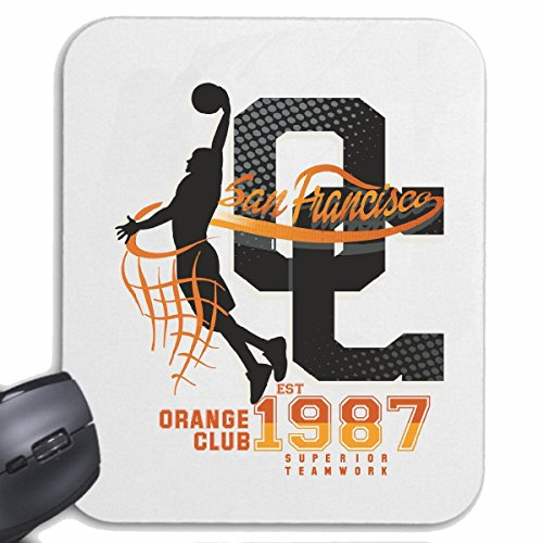Mousepad (Mauspad) SAN FRANCISCO ORANGE CLUB SUPERIOR TEAMWORK USA AMERIKA LOS ANGELES CALIFORNIA BROOKLYN NEW YORK CITY MANHATTAN RUGBY BASEBALL FOOTBALL FUßBALL für ihren Laptop, Notebook
