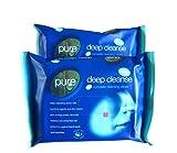Pure, salviette struccanti umide Deep Cleansing, pacco 25x 2pezzi (etichetta in lingua italiana non garantita)