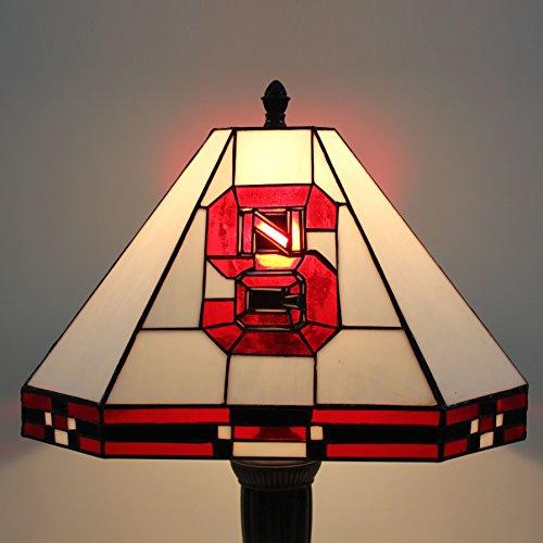 16-Zoll NCAA North Carolina State Wolfpack Glasmalerei quadratische Stehlampe