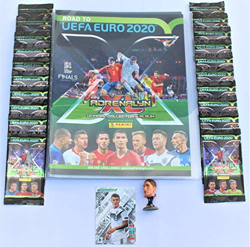 Panini Adrenalyn Road to UEFA Euro 2020 Sammelmappe + 20 Booster + Limited Edition Kroos + Extra
