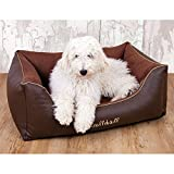 Knuffelwuff Ray Leather-Velour Dog Bed,...