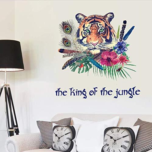 LIZHIOO Wandaufkleber Wandaufkleber Mode Tiger Stift Personalisierte Hintergrund Schlafzimmer Eingang Dekoration 3D Wallpaper Dekoration Aufkleber