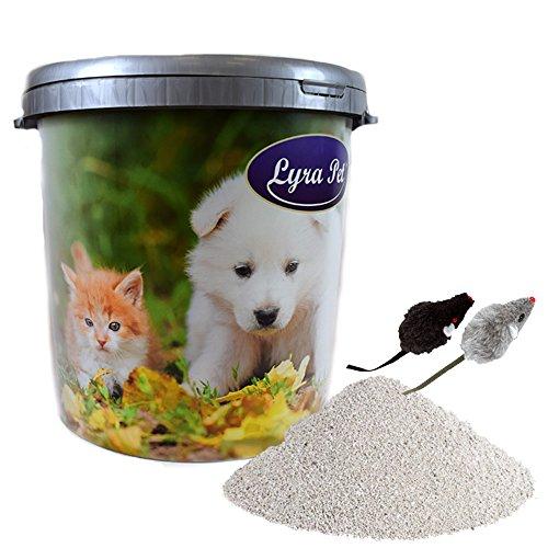 30 L LyraPet Cats Power Ultra Excellent Katzenstreu Duft in 30 L Tonne+ 2 Mäuse