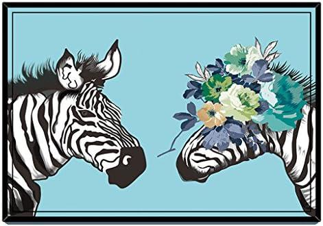 Yang baby Cartoon Cartoon Cartoon Tappeto Soggiorno Moderno tavolino Pieno Negozio di Cartone Animato Modello Zebra Camera da Letto Comodino Tappeto Camera da Letto 100  150 cm cbde17