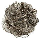 PRETTYSHOP Scrunchy Scrunchie Bun Up Do Hair Piece Hair Ribbon Ponytail Extensions Wavy Messy Gray blond mix # 9/613 G21A