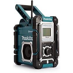 Makita DMR108 Radio Portable Worksite Noir, Bleu - Radios Portables (Worksite, AM,FM, 87,5-108 MHz, 522-1,629 kHz, 7 W, Noir, Bleu)